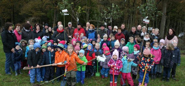 Rotary Club spendiert sechs Bäume für die Obstwiese in Harkebrügge