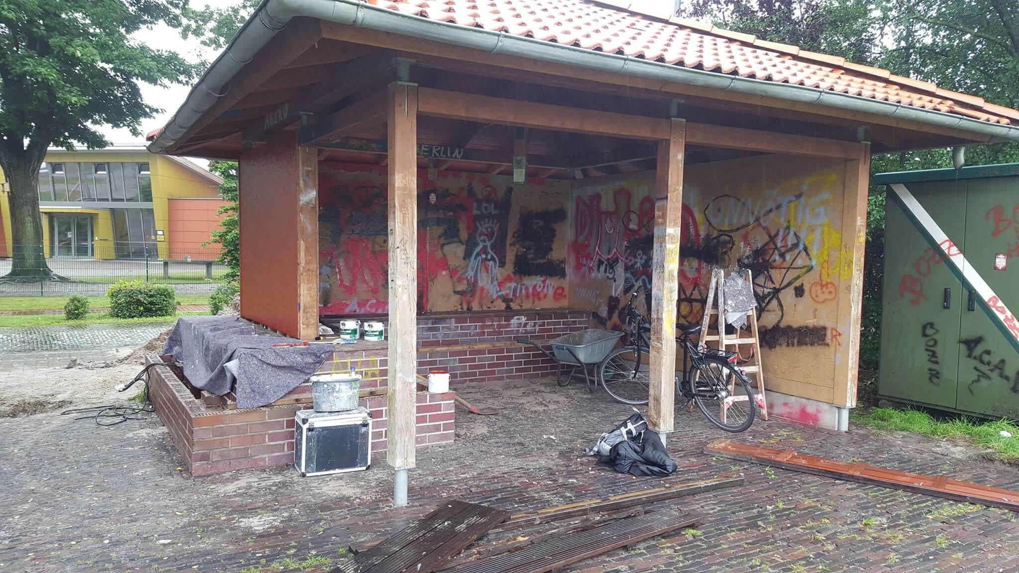 Renovierung der Schutzhütte, Aktivkreis 2. Kreis