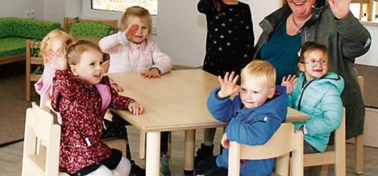 Kindergarten St. Marien – Erste Sitzprobe im neuen Gruppenraum