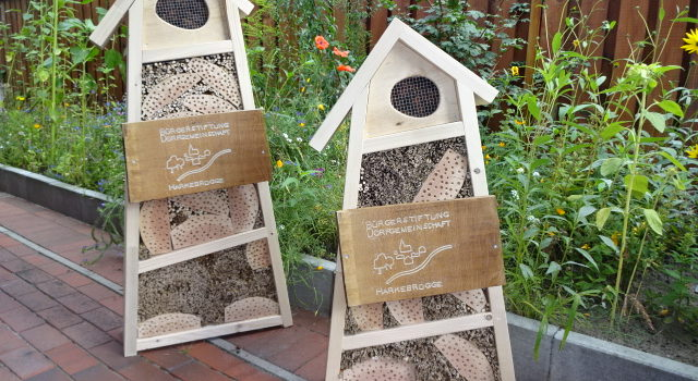 Insektenhotels als Belohnung fürs Mitmachen