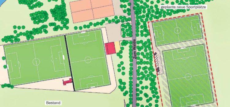 Grünes Licht für neue Sportplätze