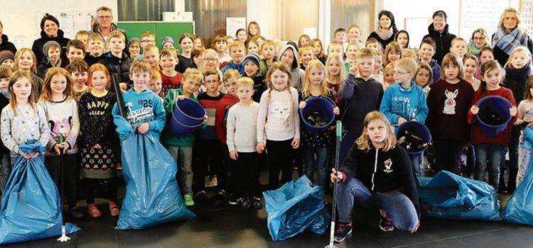UMWELTAKTION –  Harkebrügger Grundschüler sammelten Müll
