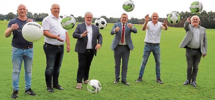 Einweihung der neuen Fußballplätze vom kleinen HSV